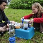 Petit-déjeuner au camping des Châteaux