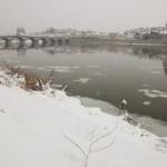 Le port de la Creusille sous la neige