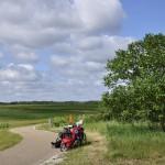 Pause entre blé et vignes