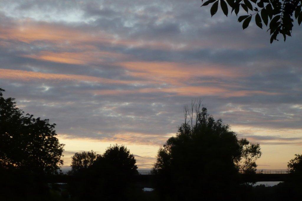 Coucher de soleil à Candes-saint-Martin