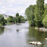 Sortie de Saumur en traversant le Thouet