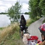 Piste cyclable le long de la Loire