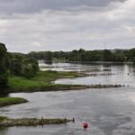 Au bout du pont pour quitter l'île de Chalonnes et la rive